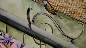 Paris Bird 2015 Watercolor